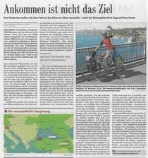 """""""Ankommen ist nicht das Ziel"""" (Badische Zeitung, Ausgabe 15.03.2014)."""