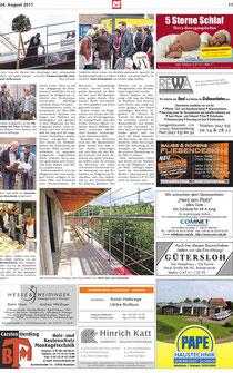 Bericht in der Bremervörder Rundschau vom 24.08.2011, Seite 2