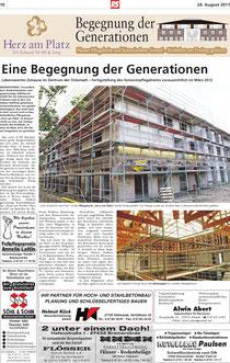 Bericht in der Bremervörder Rundschau vom 24.08.2011, Seite 1