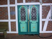 Die Eingangstür des Stammhauses der Familie Maack aus Schneverdingen