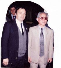 Ricardo Ilvento y el general Choi Hong Hi 9º Dan creador del Taekwon-Do. Foto  23-06-1996