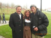 Hans Schuler und Markus Goller mit mir