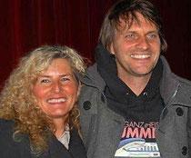 """Ich mit dem Hollywood-Regisseur Markus Goller beim Film """"Eine Ganz Heisse Nummer"""""""