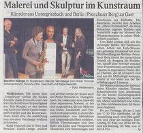 Vernissage im Kunstraum, Mai 2013