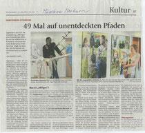 Artikel im Münchner Merkur zur Ausstellung Biennale Artiges des Kunstvereins Ottobrunn