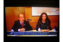 Presidente de la Asociación de Padres Separados de Asturias y Gemma González Calvo