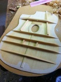セルマータイプギターの内部