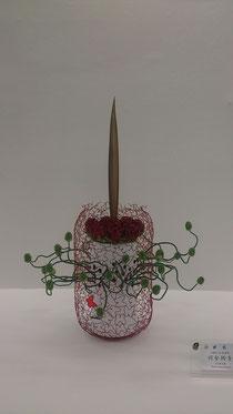 寄り道ばかりしましたが、今回の花展で私が素敵だと思った作品はコチラ