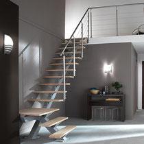 Un escalier métal posé a Cassis, 13260, Bouches-du-Rhone