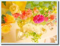 さし色にはお花のようなhappy color を♡