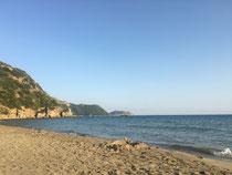 Bucht von Tsapi - abends ganz leer
