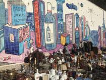 Flohmarkt vor Streetart