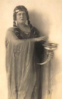 Hedy Brügelmann als Isolde, Karlsruhe
