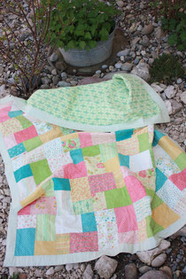 Double Slice Quilt Pattern, Layer Cakes