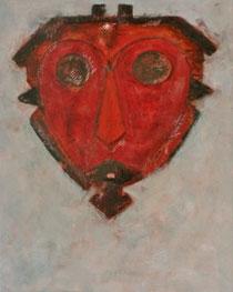 ROTE MASKE, Acryl auf Leinwand, 80 x 100 cm, 2004
