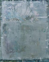 WEISSBLAUES GESICHT II, Acryl auf Leinwand, 80 x 100 cm, 2004