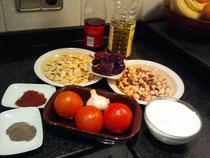 Ingredientes de la salsa de calçots