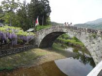 寒田川にかかる万年橋