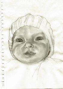esquisse bébé