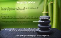 Stage de Yoga 21 mars 2015 à Plascassier