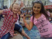 Искупались во всех фонтанах Москвы. май 2012 год