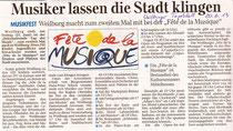 Pressemeldung Fête Weilburger Tageblatt 20 06 2013