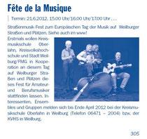 Fête VHS-Programm Seite 305 Januar 2012, Teilgrupper der Formation DimA