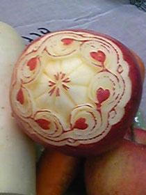 リンゴをアレンジ