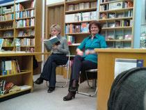 Autorin Kathrin SCHROCKE und Dolmetscherin Karin Kistner           Quelle : D.SIebert