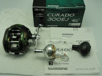 Click to enlarge - Shimano Curado 300 EJ Reel with 40mm Knob Type II Upgrade