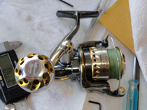 Click to enlarge - Shimano Stella 3000 FB w/ 30mm Knob
