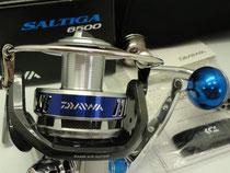 Daiwa Saltiga 6500 w/ Blue-Silver 45mm Knob