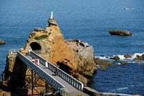 Biarritz - Le Rocher de la Vierge @Le Doaré