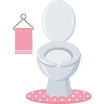 トイレは寝室のそばに配置、広めにつくる