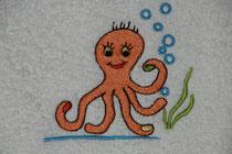 Bild: Abbildung eines gestickten Oktopus