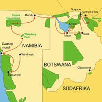 Botswana Safari von Windhoek bis zu den Viktoriafällen