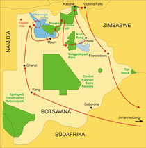 Drifters Botswana Campingsafari ab/bis Johannesburg oder bis Victoria Falls