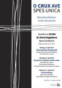 Stefan Zajonz & Simon Botschen / Gedichte und Orgel Improvisationen / St. Maria Magdalena Kirche / Bonn-Endenich / Mittwoch, 17.04.2019 / 20 Uhr