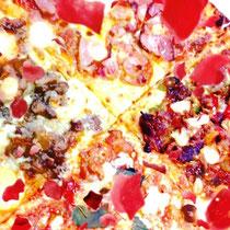 ピザは、よく見ると素敵。