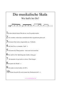 Musikalische Skala üben PDF