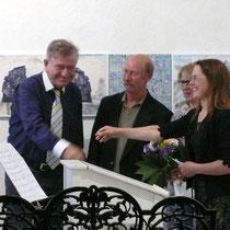 Thomas Goppel, Andrew Malura, Andrea Kreipe (v.l.n.r.)