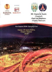 2010-12-15  Karpaty Lviv-PSG (6ème poule C3, Programme officiel)