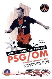Programme  PSG-Marseille  2007-08