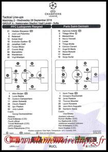 Feuille de match  Ludogorets-PSG  2016-17