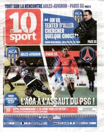 2011-01-29  Arles Avignon-PSG (21ème L1, le 10 Sport N°23)