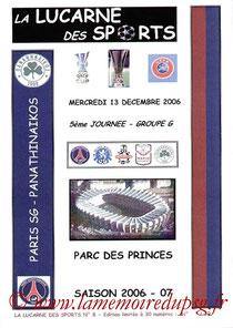 Programme pirate  PSG-Panathinaikos  2006-07