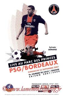Programme  PSG-Bordeaux  2007-08