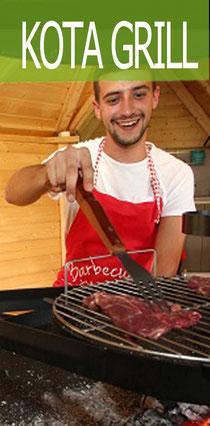 Kota Grill pour 12 personnes : chalet pour grillades au camping Clos Cacheleux en Baie de Somme