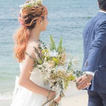 プリザーブドフラワーの結婚式ブライダルブーケ