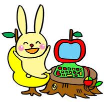 ウサギとパソコン